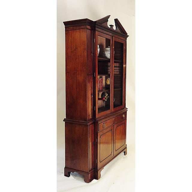 19th Century Breakfront George III Style Secretary Desk For Sale - Image 4 of 4