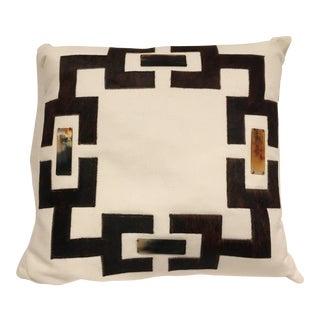 White Linen Toss Pillow For Sale