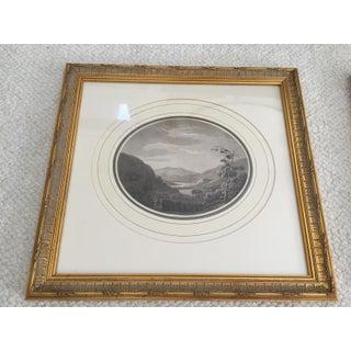 British Prints Vintage Black White Landscape Etchings - a Pair Preview