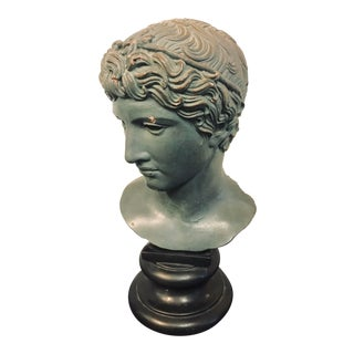 1955 Vintage Alva Studio Apollo Bust Museum Replica For Sale