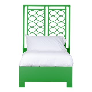 Infinity Bed Twin Extra Long - Bright Green For Sale