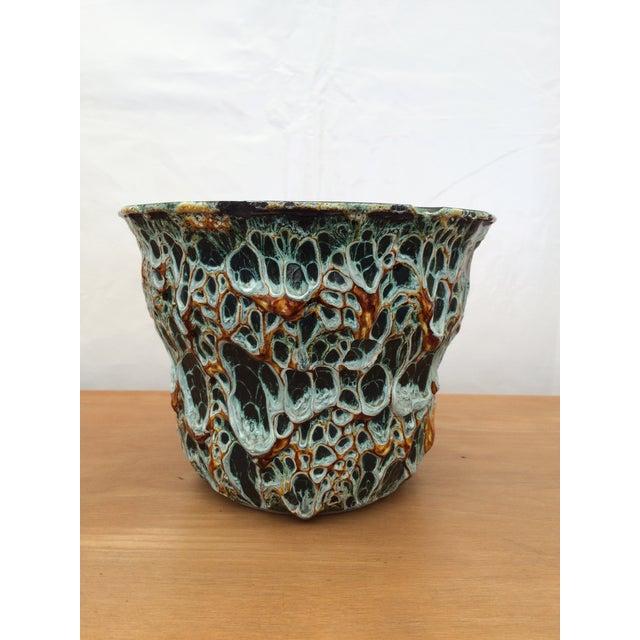 "1960s Mid-Century Modern Vallauris Studio ""Fat Lava"" Studio Pottery Vessel For Sale - Image 5 of 5"