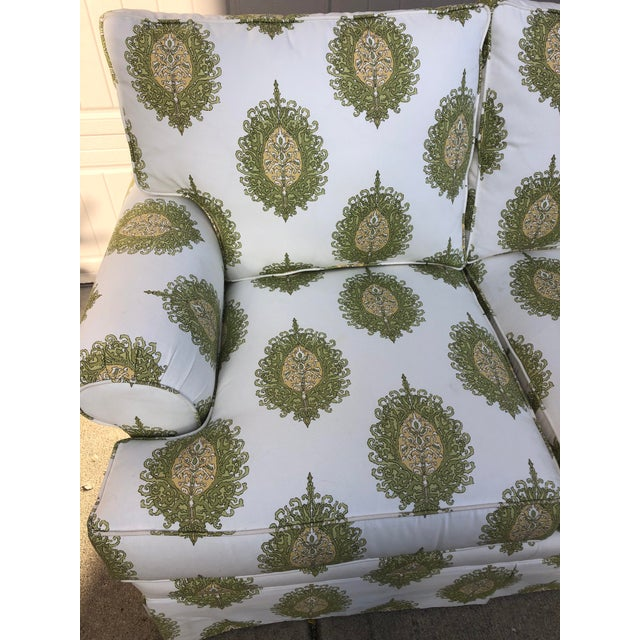 Early 21st Century Modern Upholstered Ikat Print Sofa by Century Furniture For Sale - Image 5 of 13
