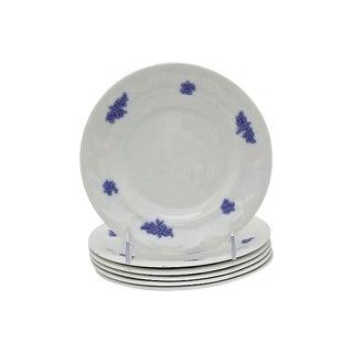 Antique Lavender Sprig Dessert Plates, S/6 For Sale