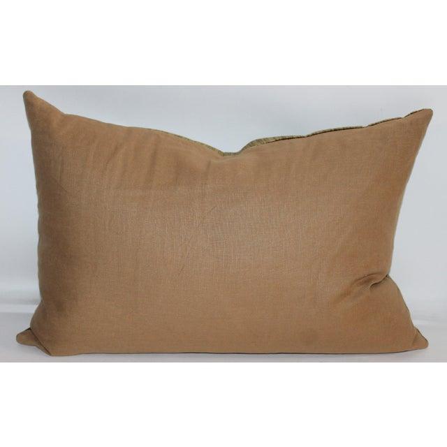 Green Velvet Boslter Pillow For Sale - Image 5 of 6