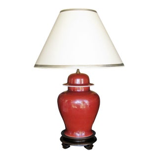 Chinese Oxblood Lamp For Sale