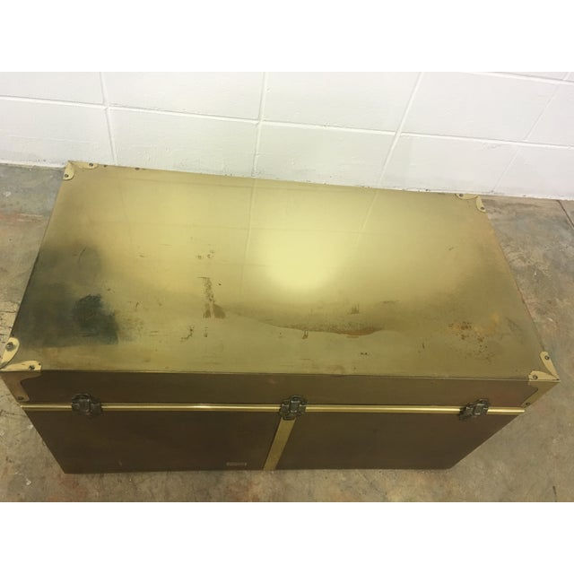 Dresher Cedar Lined Brass Trunk With Glass Top - Image 11 of 11