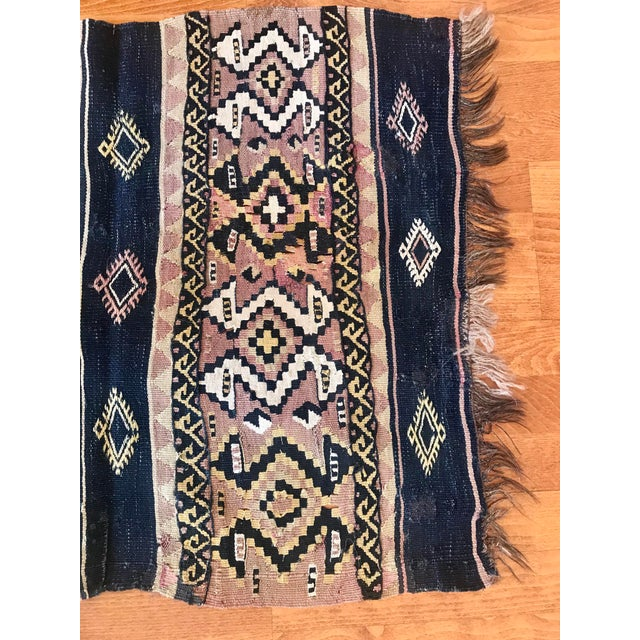 Textile 1960s Antique Turkish Kilim Rug-2′3″ × 6′3″ For Sale - Image 7 of 10