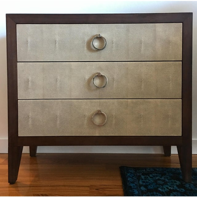 "Lillian August Shagreen/Wood ""Collier"" Chest - a Pair - Image 2 of 6"