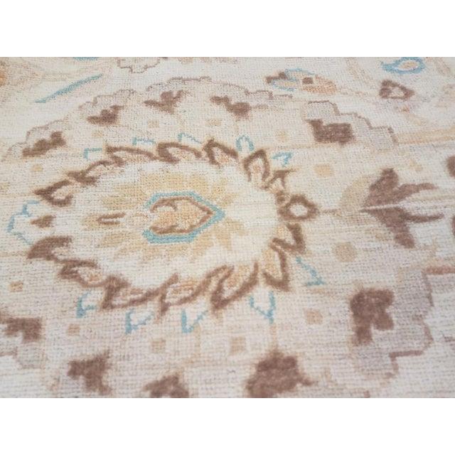 "Kafkaz Peshawar Jasmine Ivory & Brown Wool Rug - 9'11"" x 13'9"" For Sale - Image 4 of 7"