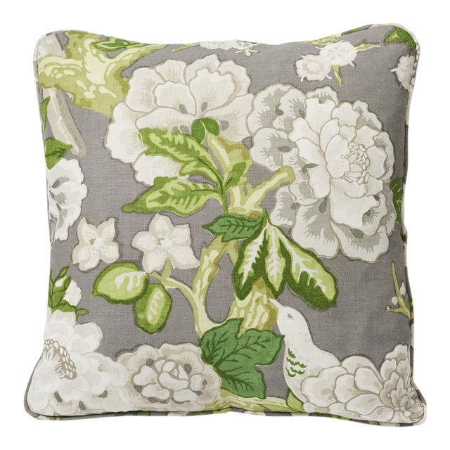 Schumacher Double-Sided Pillow in Bermuda Blossoms Print For Sale