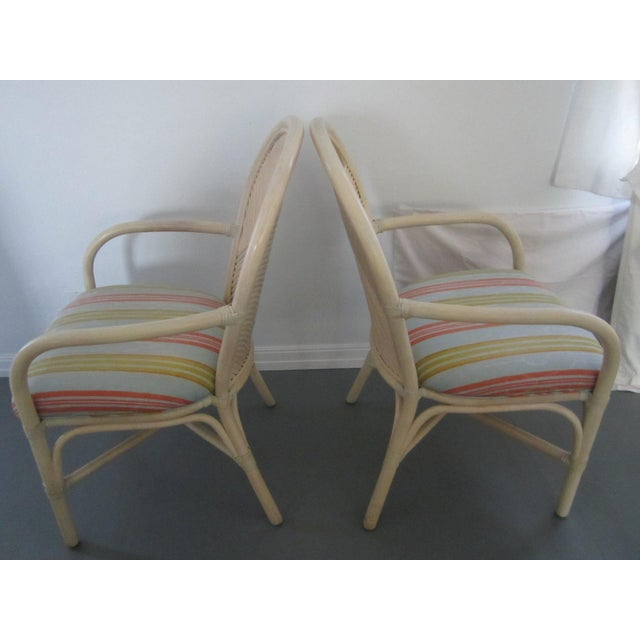 McGuire Vintage Hollywood Regency Bamboo Dining Set For Sale In Los Angeles - Image 6 of 13