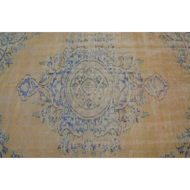"""Oversize Oushak Antique Faded Rug - 6'2"""" x 9'2"""" For Sale - Image 5 of 6"""