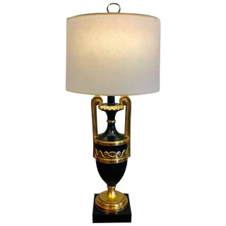 Neoclassic Watergilt Carved Wood Urn, Now as a Lamp