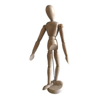 Late 20th Century Vintage Wooden Figure