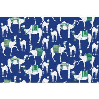 Camels Garden Party Linen Cotton Fabric, 3 Yards For Sale