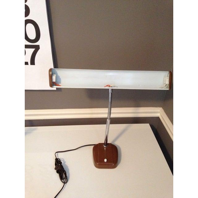 1970s Mid-Century Industrial Gooseneck Desk Lamp For Sale - Image 5 of 6
