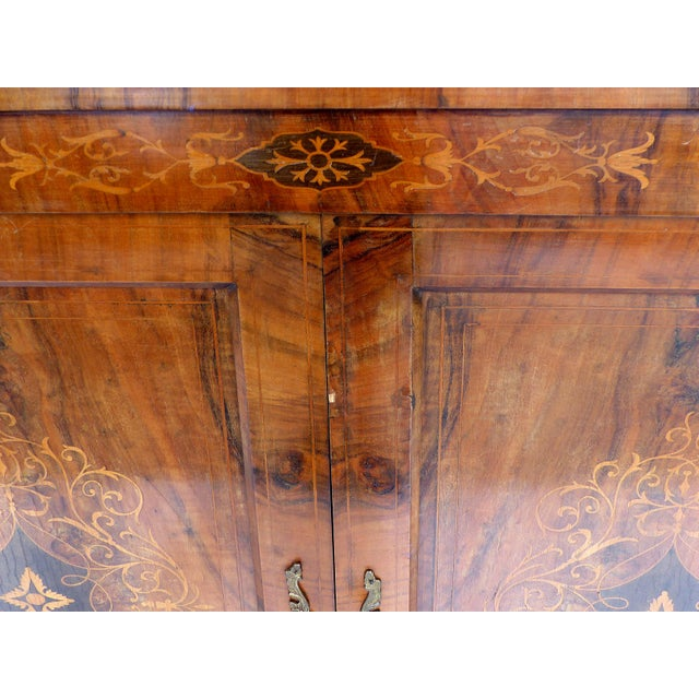 Italian Inlaid & Bronze Mount Buffet - Image 10 of 11