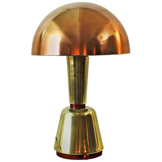 1920s Art Deco Desk Lamp by Magilux, brass, copper and bakelite - Italy For Sale