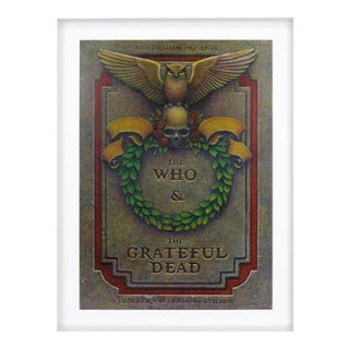 The Who & The Grateful Dead Concert Poster For Sale