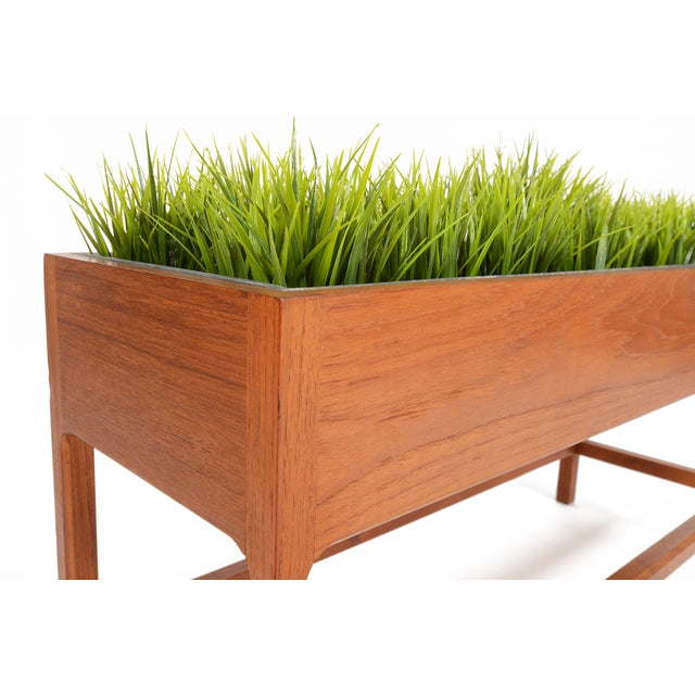 Brown Danish Modern Teak Planter by Askel Kjersgaard For Sale - Image 8 of 8