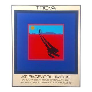 """Ernest Trova Limited Edition Original Serigraph Print Framed Poster """" Falling Man """" 1972 For Sale"""