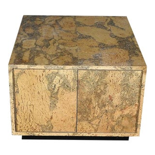 Adrian Pearsall Mid-Century Modern Cork Side / Coffee Table For Sale