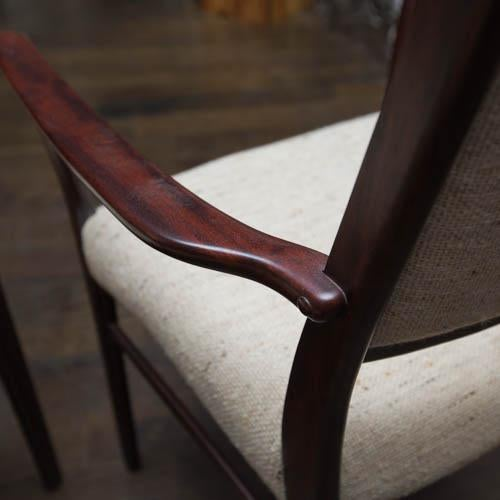 Mid-Century Modern Set of Ten Skovby Rosewood Upholstered Dining Chairs For Sale - Image 3 of 9