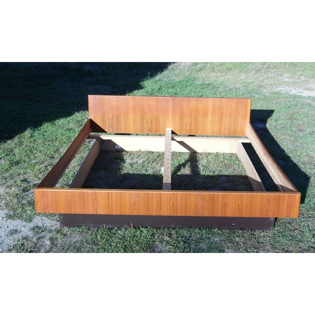 Danish Modern Teak King Platform Bed - Image 8 of 11