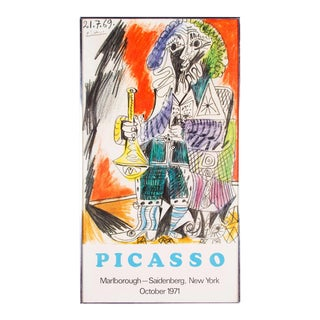 1970s Vinage Pablo Picasso Homme Avec Corneo Marlborough - Saidenberg, New York Poster For Sale
