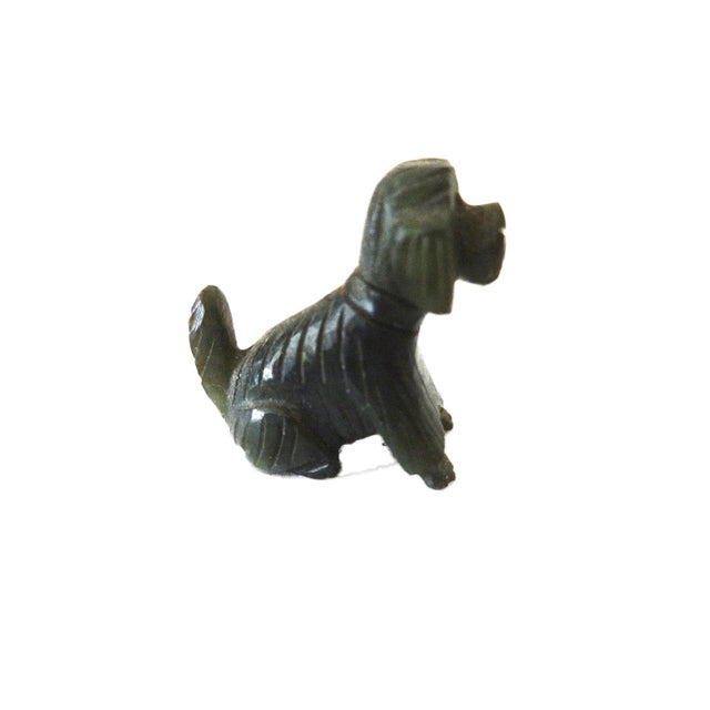 Vintage Miniature Jade Sculpture of a Dog circa 1950's For Sale In New York - Image 6 of 6