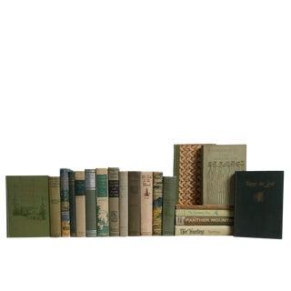 Vintage Woodland Cabin Book Set For Sale