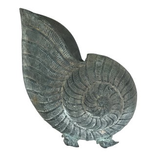Zinc Nautilus Shell Planter For Sale