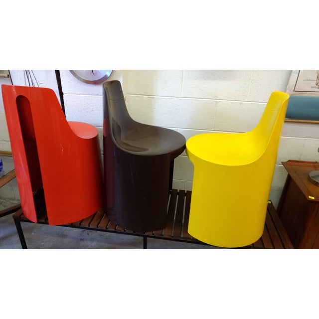 Plastic Vintage Overman Tango Chairs - Set of 3 For Sale - Image 7 of 11