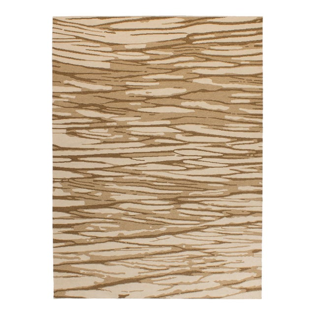 2010s Solo Rugs Grit and Ground Collection Contemporary Arbol Hand-Knotted Flatweave Area Rug, Brown, 6' X 9' For Sale - Image 5 of 5