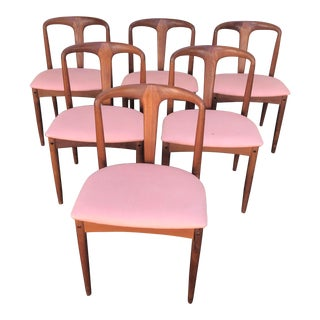 Drylund Mid-Centruy Teak Dining Chairs- Set of 6 For Sale