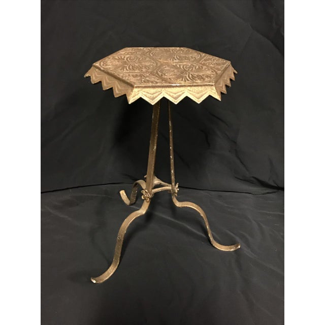 Antique Art Deco Nouveau Cast Iron Verona Cocktail / Drink Table For Sale - Image 5 of 5