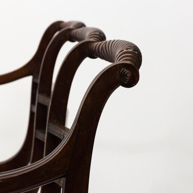 Early 19th Century Antique Regency Style Triple Back Settee For Sale - Image 12 of 13