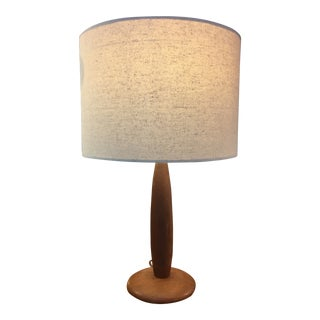 1950s Mid-Century Walnut Table Lamp For Sale