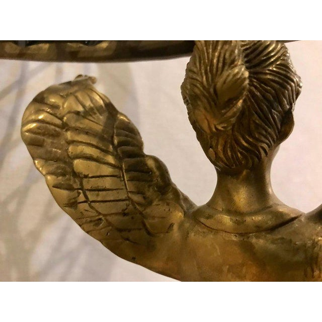 19th-20th Early Empire Bronze Basket or Jardinière on Figural Gilt Bronze Stand For Sale - Image 9 of 13