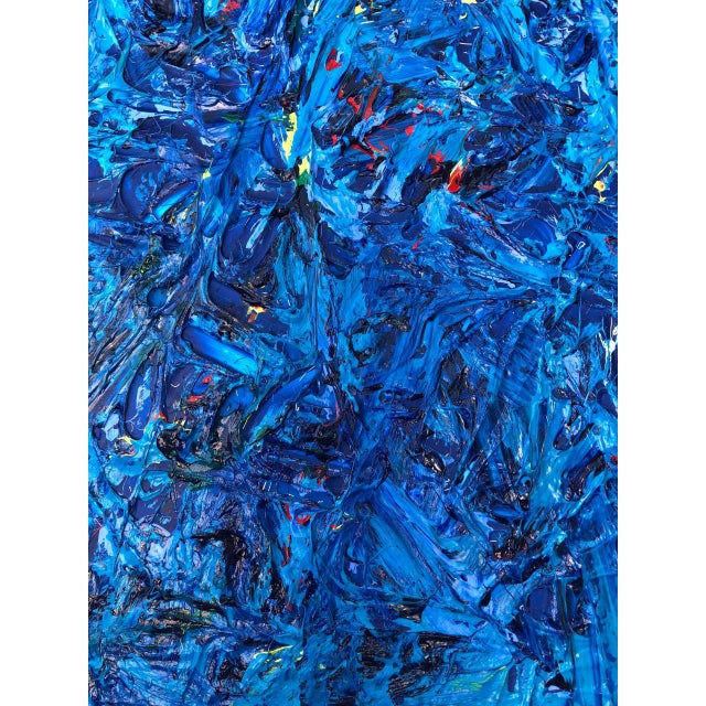 Monochrome Abstraction Impasto Painting For Sale - Image 10 of 12