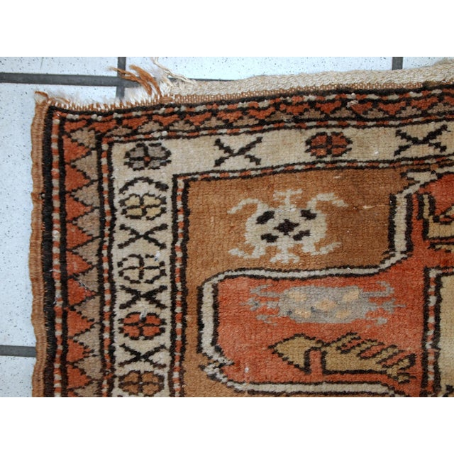 "1940s Vintage Turkish Oushak Handmade Runner - 2'5"" x 8' For Sale - Image 10 of 10"
