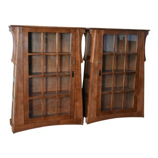 Crafters and WeaversCraftsman Crofter Bookcases - a Pair For Sale