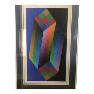 """Original Serigraph """"Torony Iii"""" by Victor Vasarely For Sale"""