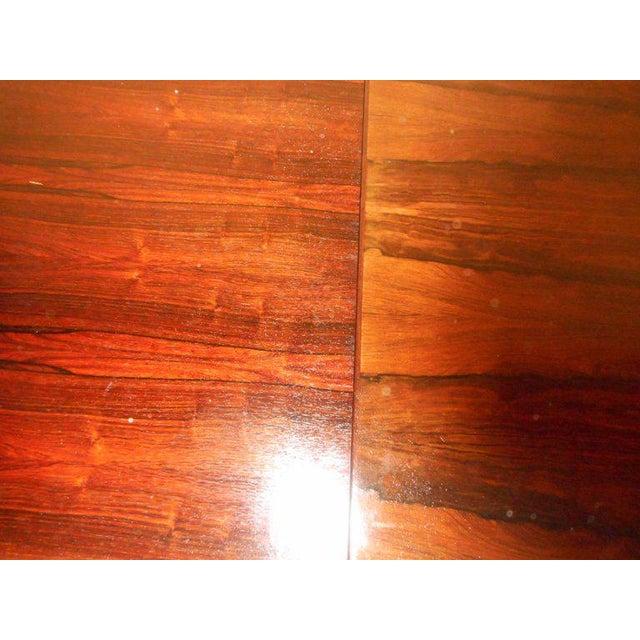 Brown Vintage Edmund Jorgensen Modern Rosewood Draw Leaf Dining Table For Sale - Image 8 of 9