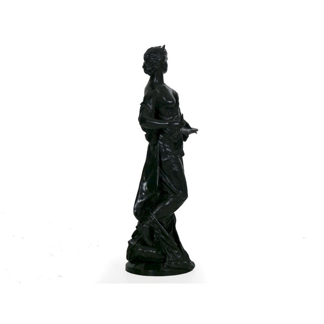 """19th Century Antique French Bronze Sculpture """"Science"""" by Edouard Drouot"""" For Sale - Image 5 of 13"""