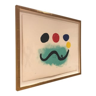 Abstract Lithograph 5/83 Print Signed by Alolph Gottlieb For Sale