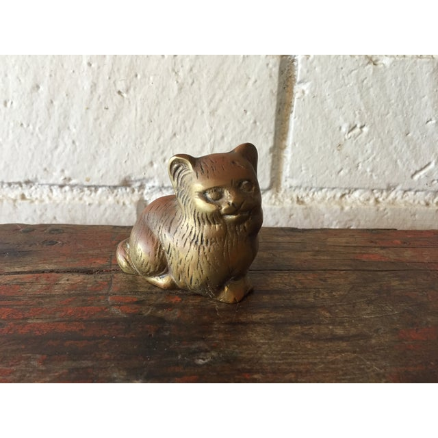 Small Brass Kitty - Image 2 of 6