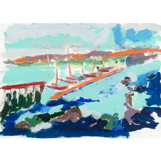 Monterey Harbor Painting by Robert Canete