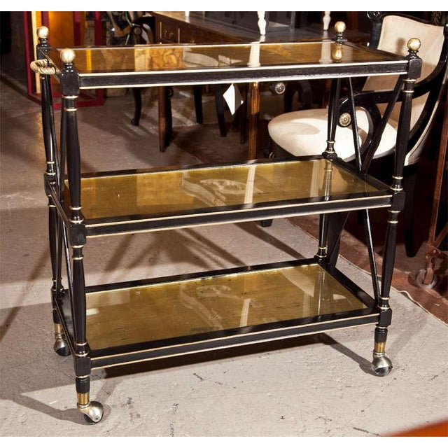 Maison Jansen Three-Tier Serving Cart - Image 2 of 8